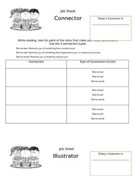 Guided Reading Job Sheets