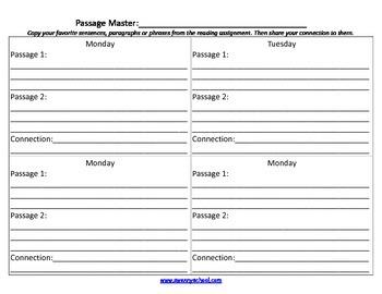 Guided Reading Job Sheets Packet