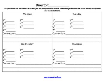 Guided Reading Job Sheets Packet