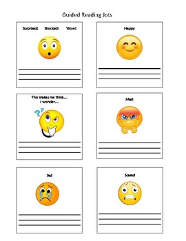 Guided Reading Jots with Pictures