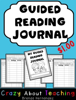 Guided Reading Journals for K-1 Students