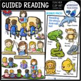 Guided Reading Kids Clip Art Bundle