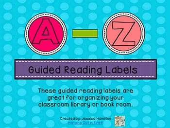 Guided Reading Labels Free