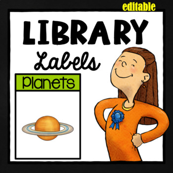 Editable Library Labels - Green