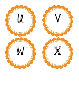 Guided Reading Labels - Orange