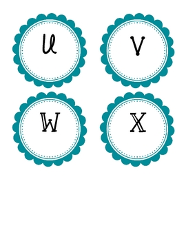 Guided Reading Labels - Teal