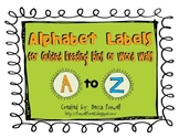 Guided Reading Labels / Word Wall Alphabet Labels
