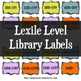 Guided Reading and Lexile Library Labels
