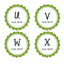 Guided Reading Labels with Lexile - Green