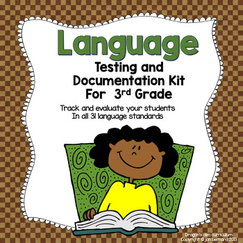 Guided Reading Language Testing and Documentation Kit for 3rd Grade