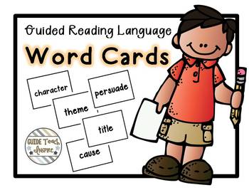 Guided Reading Language Word Cards - Digital and Printed