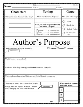 Author's Purpose-Guided Reading Lesson