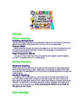 Guided Reading Lesson Ideas