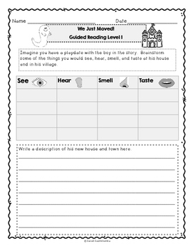 We Just Moved! by Stephen Krensky, Guided Reading Lesson Plan, Level I
