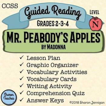 Guided Reading Lesson and Book Study - Mr. Peabody's Apples - Level N