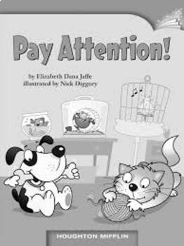 Guided Reading Lesson -Pay Attention! by Elizabeth Dana Jaffe-Level K
