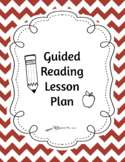 3-day Guided Reading Lesson Plan- All on ONE page