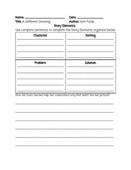 Guided Reading Lesson Plan: A Different Drawing