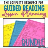 Guided Reading Lesson Plan BUNDLE Levels A-Z