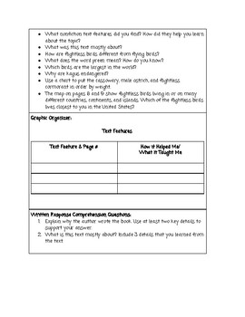 Guided Reading Lesson Plan: Birds That Can't Fly