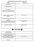 Guided Reading Lesson Plan DRA Levels 1-14
