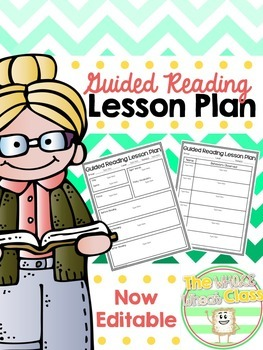 Guided Reading Lesson Plan- EDITABLE FREEBIE