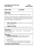 Guided Reading Lesson Plan: Goldilocks and The Three Bears