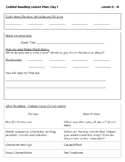 Guided Reading Lesson Plan Outline (EDITABLE)