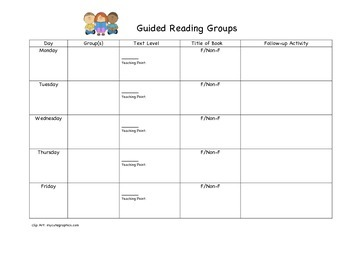 Guided Reading Lesson Plan Sheet