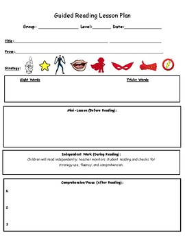 Guided Reading Lesson Plan, Superhero Edition