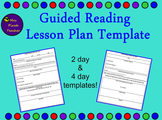 Guided Reading Lesson Plan Template (Editable!)