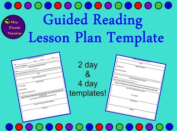 Guided Reading Lesson Plan Template Editable By Mrs Pirate Teacher - Guided reading lesson plan template 4th grade