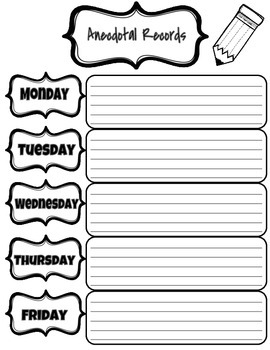 Guided Reading Lesson Plans and Anecdotal Records