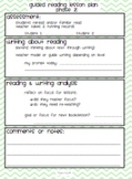 Guided Reading Lesson Plan Template Easy to follow Green C