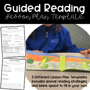 Guided Reading Lesson Plan Template Editable By One Kreative