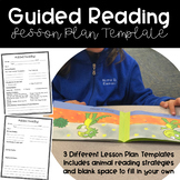 Guided Reading Lesson Plan Template - Editable