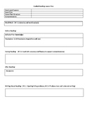 Guided Reading Lesson Plan Template and Example