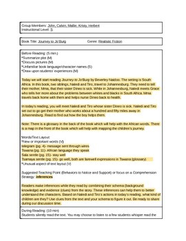 Guided Reading Lesson Plan Template with 2 sample plans