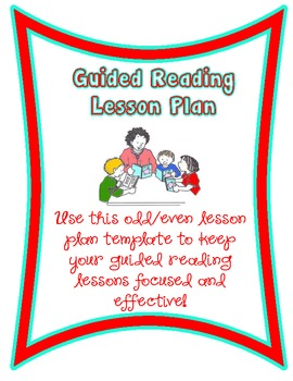 Guided Reading Lesson Plan Template/Form!