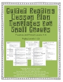 Guided Reading Lesson Plan Templates for Small Groups Level A-N (1-23)