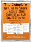 Guided Reading Lesson Plan Templates for Small Groups Leve
