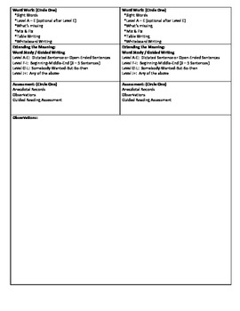 Guided Reading Lesson Plan for - (Level C) A River Changes