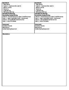 Guided Reading Lesson Plan for - (Level B) At the Beach