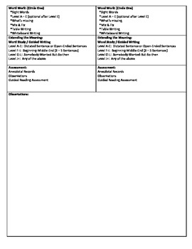 Guided Reading Lesson Plan for -  (Level E/F) The Four Seasons