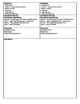 Guided Reading Lesson Plan for - (Level B) Going for a Ride