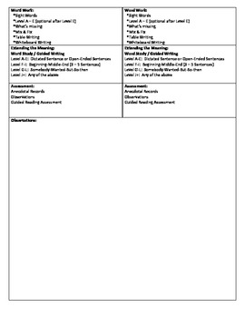 Guided Reading Lesson Plan for - (Level A) My Room