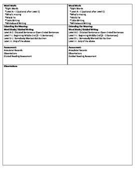 Guided Reading Lesson Plan for - (Level B) The City and the Country