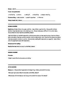 Guided Reading Lesson Plan for the book Wait Skates! Level F