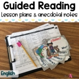 Simple Guided Reading Lesson Plans (Templates & Anecdotal Notes)