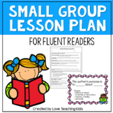 Guided Reading- Lesson Plan Template- Fluent Readers